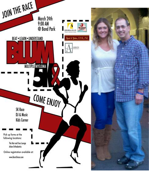 Blum 5K Race, Ashley Blum & Father