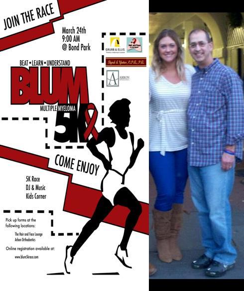 Blum 5K Race, Ashley Blum & Father