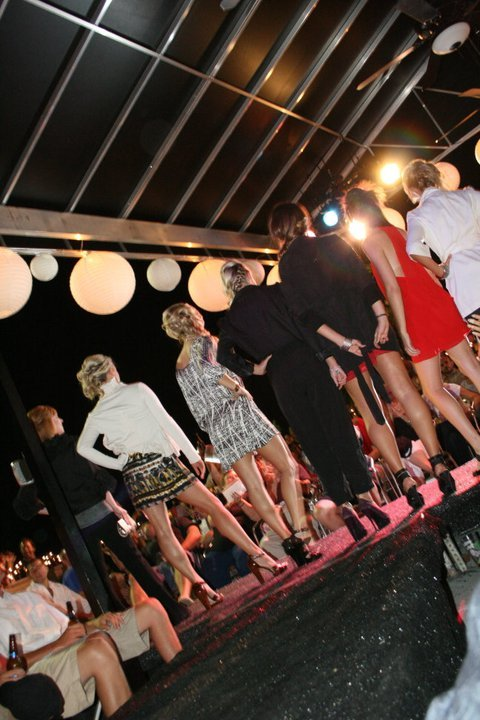 Launch party fashion show